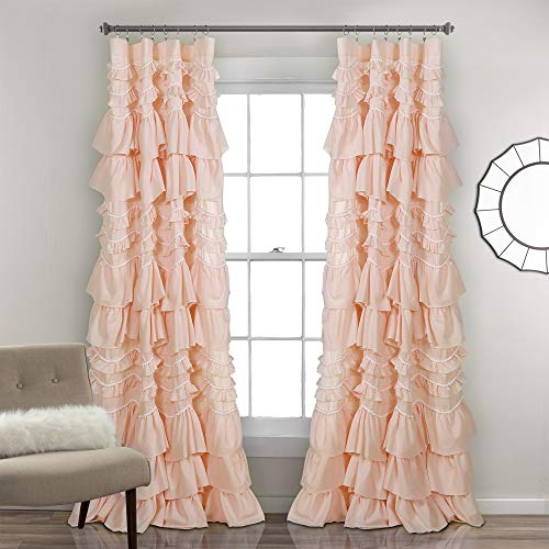 "Lush Decor 16T003181, Blush Kemmy Window Curtain Sing Panel, 84"" x 52"""