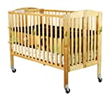 Dream On Me Folding Full Size Convenience Crib, Natural