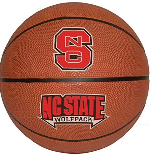 8 Inch Basketball North Carolina NC State University Wolfpack NCSU Logo Removable Wall Decal Sticker Art NCAA Home Room Decor 8 by 8 Inches