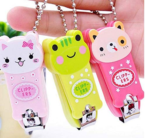 Amandaus 3 Pcs Lovely Cartoon Lollipop Frog Cat Image Nail Scissors Nail Clippers Nail Clippers Manicure Nail Care Tools