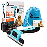 FLASH SALE! Deshedding Tool – Dog and Cat Brush Set for Grooming and Shedding – Complete Pet Hair Removal with Bag Dispenser and 15 Bags Included