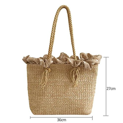 Big 01 Tote Rattan Weave Amuele Beach Circle Bag Bohemia Handbag Shoulder Straw Round INS Travel 7gBq6X