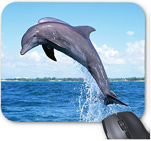 Dolphin Jumping Out of Water Tattoo Mouse Pad.