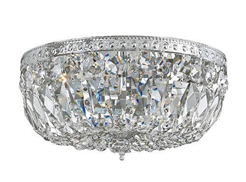 - Bohemian Crystal Flush Mount Finish / Crystal Grade: Chrome/Swarovski Spectra