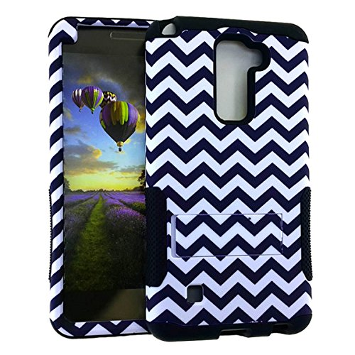 White Rainbow Butterfly Snap (LG LS775 Case, Impact Rugged Hard Cover, Silicone Rubber Soft Skin with Kickstand (Black White/Black Chevron Waves TE598))