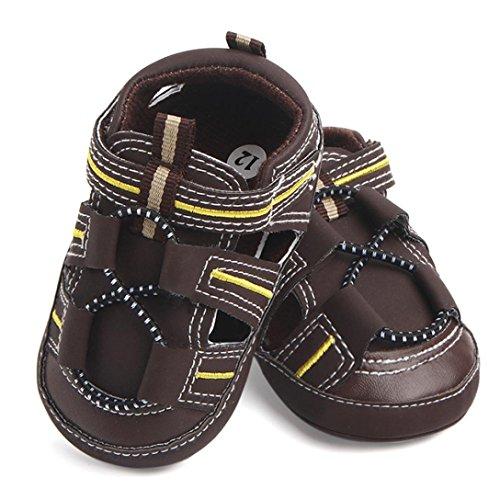 Tefamore Summer de la nueva sandalias de bebé masculinos y femeninos se deslizan los zapatos del niño del bebé Marrón