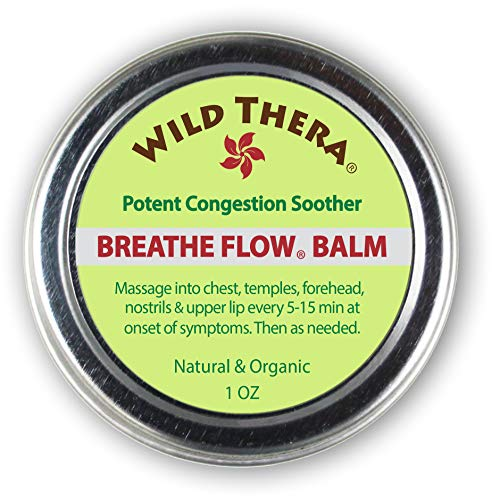 Wild Thera Breathe Easy/Breathe Flow Balm. Natural Sinus Relief, Allergy Relief, Stuffy Nose, Chest Congestion. Sinus Buster: Colds, Cough, Headache, Sinus Infection Relief, Sinus Rinse and Neti Pot (Best Vaporizer For Sinus Congestion)