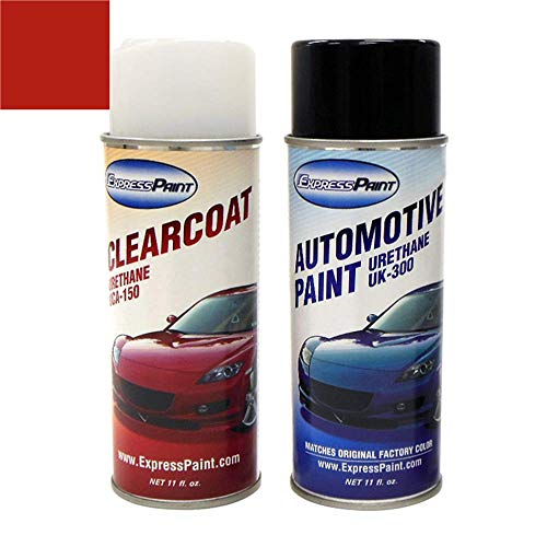 ExpressPaint Aerosol - Automotive Touch-up Paint for Nissan Sentra - Aztec Red Clearcoat AG2 - Color + Clearcoat Package