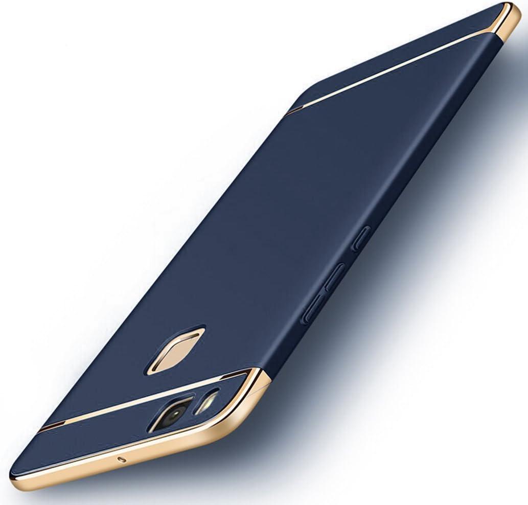 """Custodia Huawei P9 Lite, Yoowei® Cover Huawei P9 Lite 3 in 1 Alta Qualità Ultra Sottile Piena Protezione PC Shell Duro Retro Custodia per Huawei P9 Lite 5.2"""", Blu"""