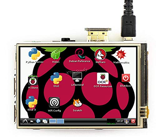 3.5 inch Resistive Touch LCD HDMI interface IPS Screen 480x320 for Raspberry Pi 3 2 Model B B+ A+ Raspbian Video Photo Display @XYGStudy