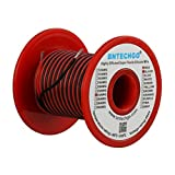 BNTECHGO 24 Gauge Silicone Wire Spool 50 feet Ultra Flexible High Temp 200 deg C 600V 24 AWG Silicone Wire 40 Strands of Tinned Copper Wire 25 ft Black and 25 ft Red Stranded Wire for Model