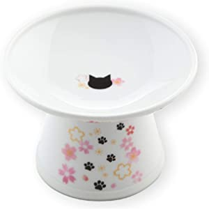 Necoichi Extra Wide Raised Cat Food Bowl