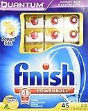 Finish Quantum Dishwasher Detergent, Lemon Sparkle Scent, 45-Count 26.3oz