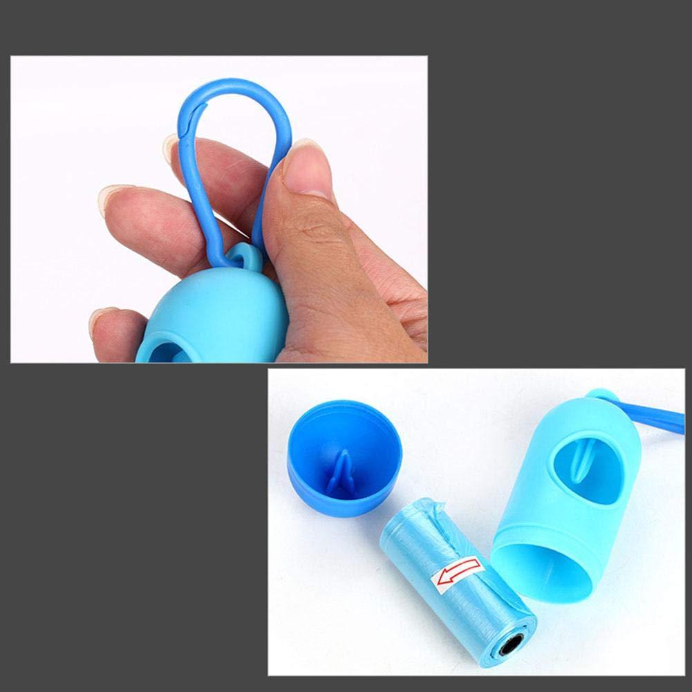 Dispensador de Bolsas de Caca para Mascotas Minsa dispensador de pl/ástico con Cuerda el/ástica Antideslizante para Perros y Gatos