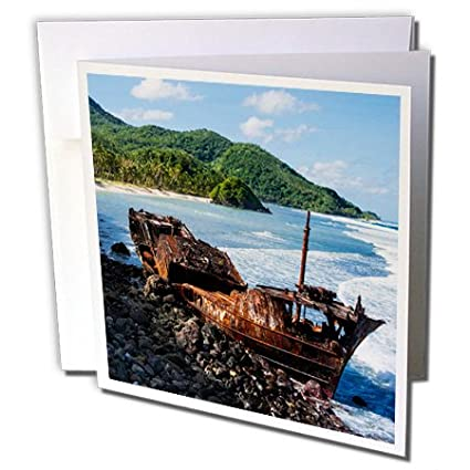 Amazon com : 3dRose Greeting Card Shipwreck on The East