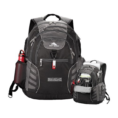 Macaulay Honors High Sierra Big Wig Black Compu Backpack 'Official Logo' by CollegeFanGear