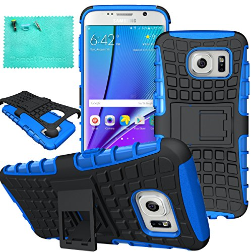 Shockproof Hard TPU Case for Samsung Galaxy S7 Edge (Hot Pink/Blue) - 2