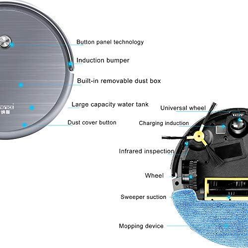Robot de Balayage Intelligent, aspirateur Ultra-Mince Portable, aspirateur Silencieux et Puissant, Robot aspirateur Auto-Rechargeable, aspirateur Trois-en-Un balayant et traînant
