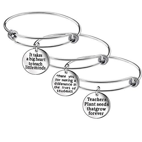 Thanksgiving Day Teacher Appreciation Gifts 3Pcs Snake Bracelet Bangle Jewelry Gift for Teacher ... (1)]()