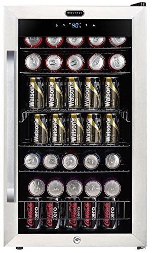 Whynter BR-1211DS Freestanding 121 Can Digital Control and Internal Fan, Stainless Steel Beverage Refrigerator, One Size,