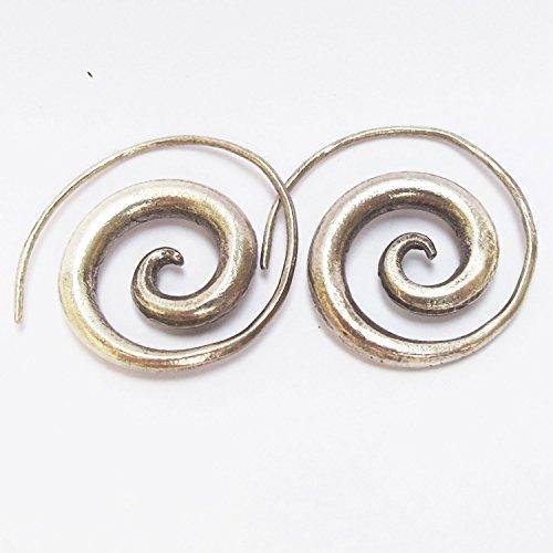 Thai Silver Gemstone Bracelet - THAI KAREAN HILL TRIBE 98% SPIRAL SILVER HANDCRAFT HANDMADE  KAREAN EARRING BOX_1