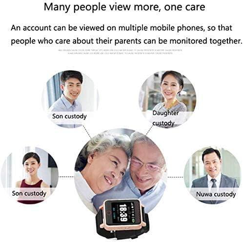 Anti-Lost-GPS-Smartwatch für ältere Menschen,mit SOS-Notruf und Herzfrequenz-Blutdruckmessfunktion,GPS-Anti-Lost-Smartwatch