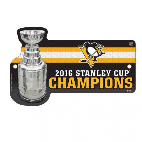 Pittsburgh Penguins Wincraft 2016 Stanley Cup Champions Plastic Wall Sign