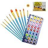 Watercolor Paint Set - Includes 36 Premium Quality Art Watercolor Painting,10 Watercolor Paint Brushes, 1 Watercolor Pad Everything You Need to Get Started for Kids,Artists, Students & Beginners