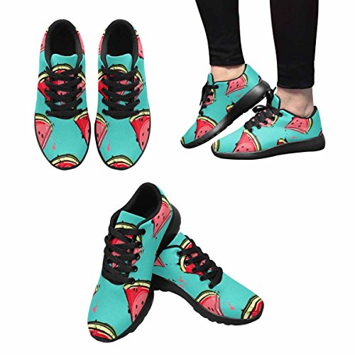 InterestPrint Womens Jogging Running Sneaker Lightweight Go Easy Walking Comfort Sports Athletic Shoes Pattern With Slices Of Watermelon 2V58ID5iG