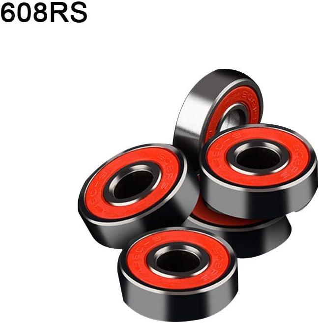 Ahmi 608RS Ruedas Cojinetes de Skateboard//patineta//Pat/ín de Ruedas//Roller Rojo//Negro