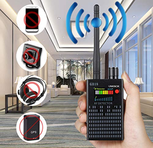 (Hidden Camera Detector, UNKNOK Bug Detector [Anti-Spy][Ultra-high] RF Signal, Radio Frequency, GPS Detector Anti Spy Camera Finder Bug Sweaper Scanner Detection Device)