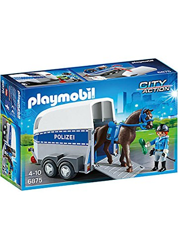 Playmobil Horse Trailer (PLAYMOBIL® 6875 Mounted Police with Trailer)