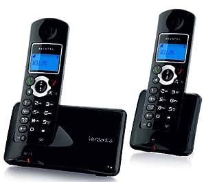 Alcatel Versatis C350 Duo - 2 teléfonos fijos inalámbricos con manos libres, color negro [importado de Francia]