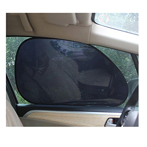 Iuhan® Fashion 2Pcs Car Rear Window Side Sun Shade Cover Block Static Cling Visor Shield Screen
