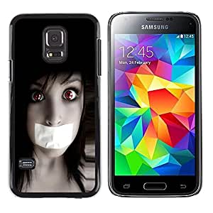 Be Good Phone Accessory // Dura Cáscara cubierta Protectora Caso Carcasa Funda de Protección para Samsung Galaxy S5 Mini, SM-G800, NOT S5 REGULAR! // Anime Goth Girl