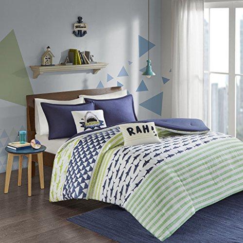 (Urban Habitat Kids Finn Comforter Set, Green/Navy)