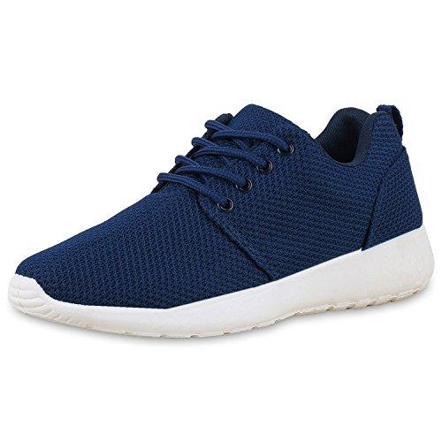 Scarpe Unisexe Vita Chaussures De Sport Femmes Hommes Course Profil Unique Bleu Fonc