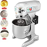 Happybuy 30 Quart 1.5HP 1100W Dough Commercial Grade Stand Electric Food Mixer, Silver