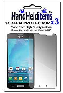 HHI Anti-Fingerprint, Anti-Glare, Matte Finished Screen Protector for LG L90 (3 Pack) (Package include a HandHelditems Sketch Stylus Pen)