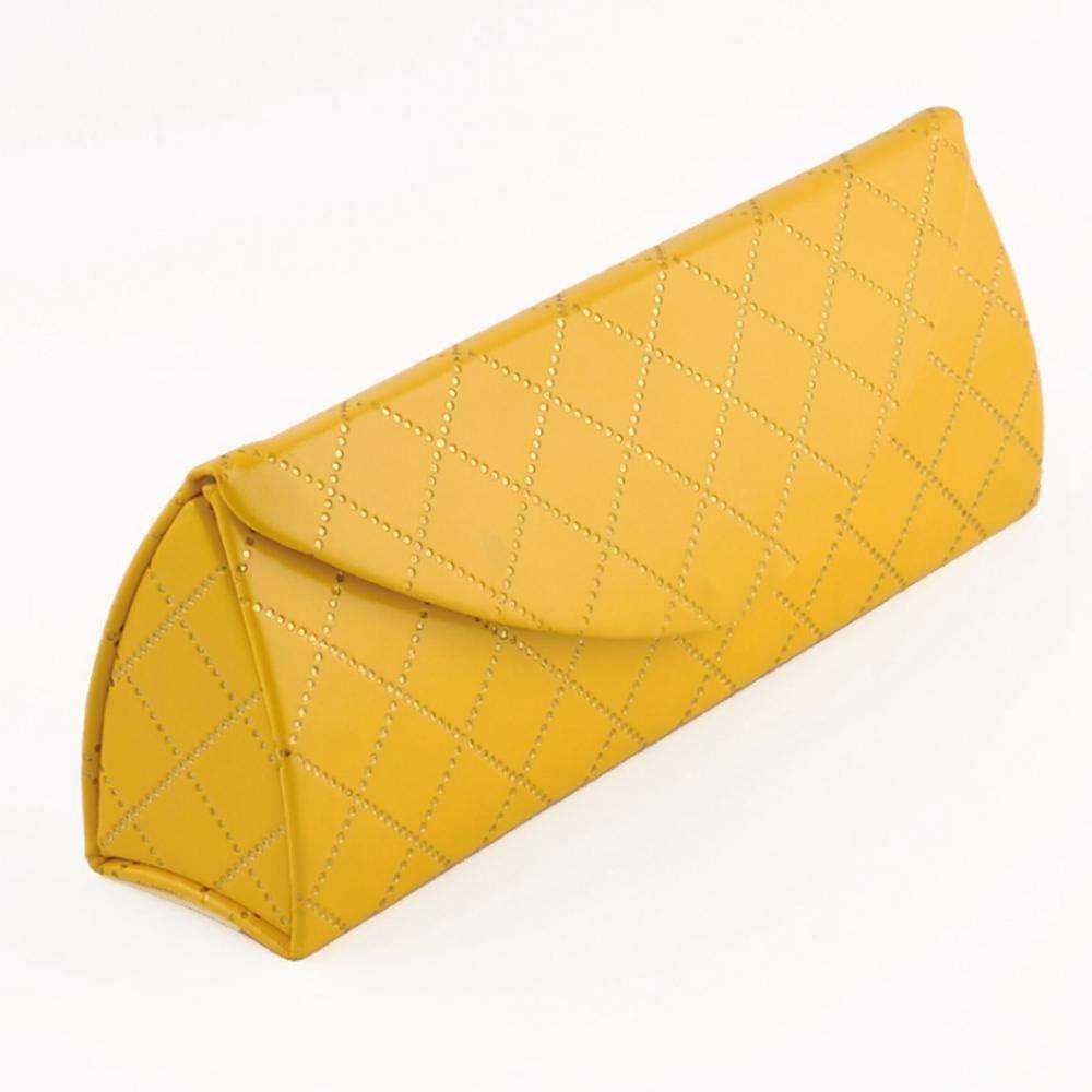 QLSGFBDIM Estuche de lápices Estuche de lentes Estuche de lentes, moda, luz, lentes, estuche de aluminio @ amarillo: Amazon.es: Oficina y papelería