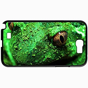 Personalized Protective Hardshell Back Hardcover For Samsung Note 2, Frog Toad Macro Design In Black Case Color