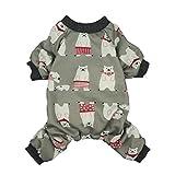 Fitwarm Polarbear Pet Clothes for Dog Pajamas Shirts Jumpsuit Grey Cotton Medium