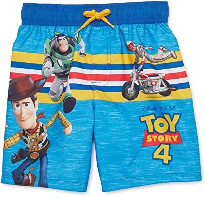 Disney Pixar Woody and Buzz Lightyear Swim Trunks for Boys Toy Story 4
