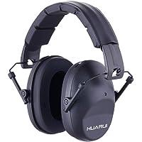 NoiseCancellingEarMuffs for Shooting Hunting, Adjustable Shooting Ear Muffs,Shooters Ear Protection Safety Ear Muffs, Lightweight Ear Muffs Noise Protection|HUARUI (Black)