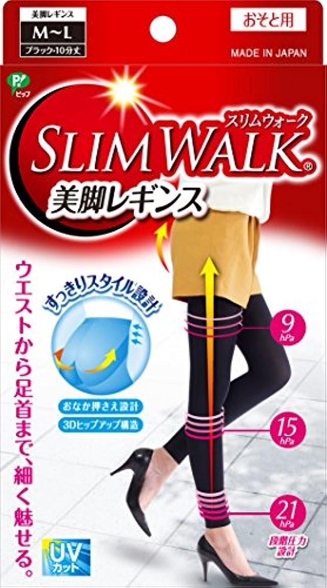 口頭バスルーム明らかにスリムウォーク 美脚レギンス M-Lサイズ ブラック(SLIM WALK,leggings,ML) 着圧 レギンス