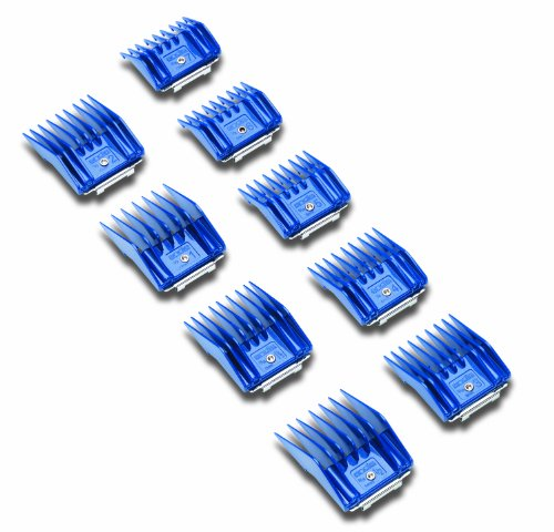 Andis 9-Piece Clipper Combs for Samll Pets, Blue (12860)