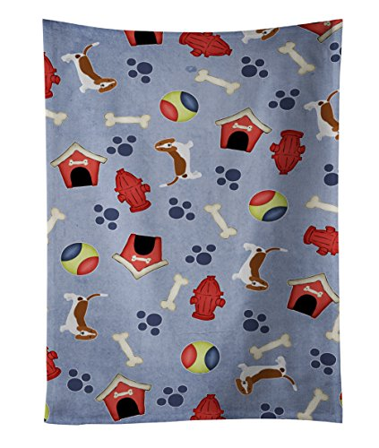Caroline's Treasures BB4047KTWL Dog House Collection Basset Hound Kitchen Towel, 25