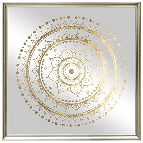 The Oliver Gal A Mandala Foil and Natural Wood Mirror