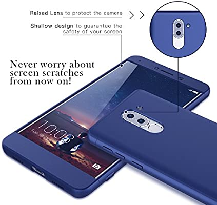CE-Link Funda para Huawei Honor 6X Rigida 360 Grados Integral, Carcasa Honor 6X Silicona Snap On Diseño Antigolpes Choque Absorción, Honor 6X Case ...