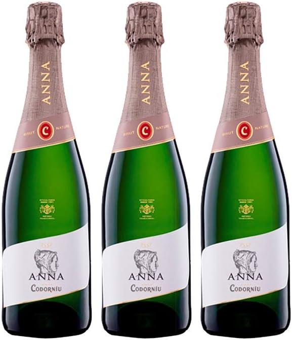 Codorníu | Anna de Codorníu Cava Brut Nature | Caja de 3 botellas de 75 cl: Amazon.es: Alimentación y bebidas